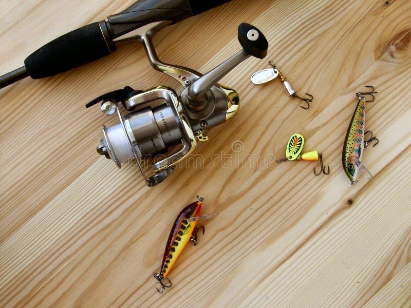 Gehendes Fischen lizenzfreie stockfotos