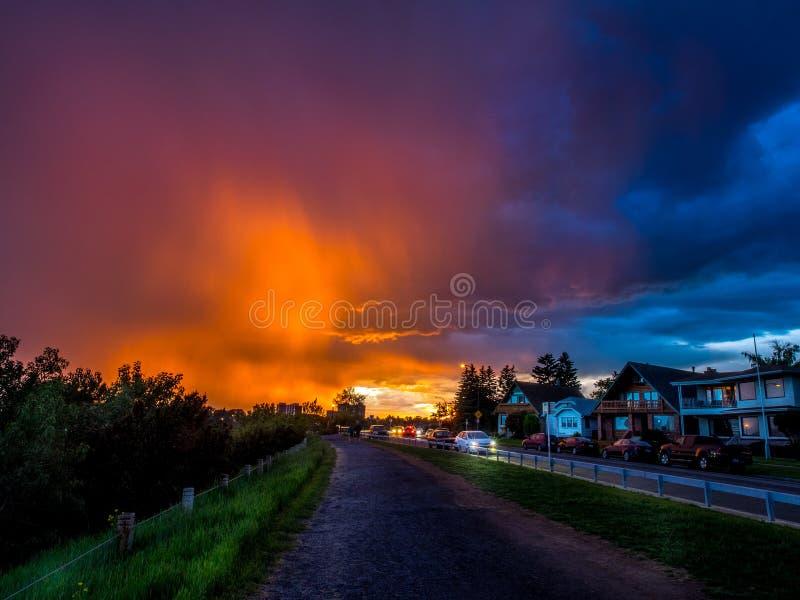 Gehendes parth Calgarys stockbild