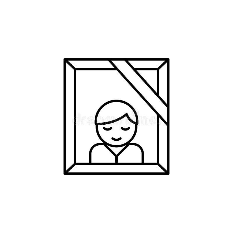 geheugen, foto, het pictogram van het doodsoverzicht gedetailleerde reeks pictogrammen van doodsillustraties Kan voor Web, emblee royalty-vrije illustratie