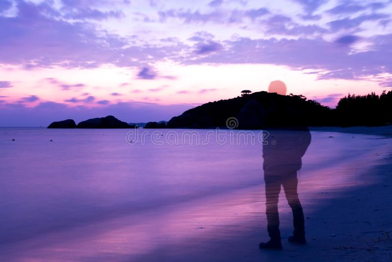Geheugen op het strand royalty-vrije stock fotografie