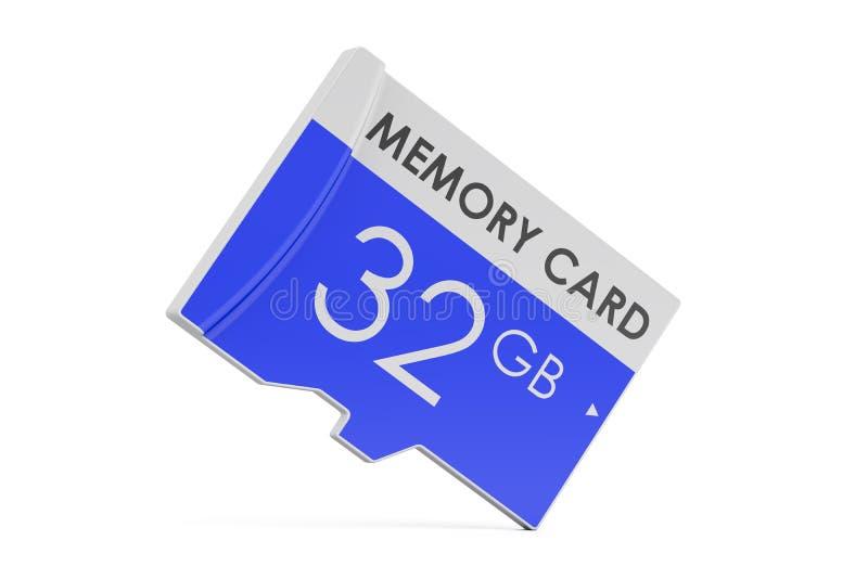 Geheugenkaart 32 GB, het 3D teruggeven royalty-vrije illustratie