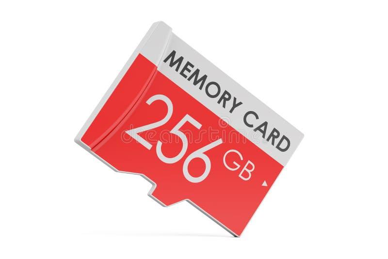 Geheugenkaart 256 GB, het 3D teruggeven stock illustratie