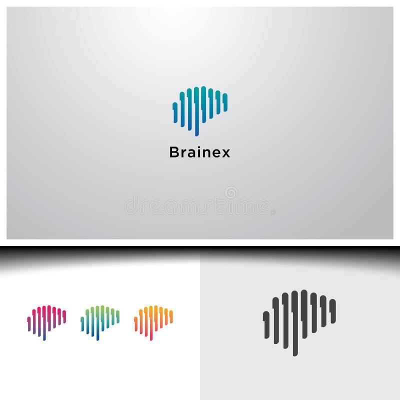 Gehirn conection Logos lizenzfreie abbildung