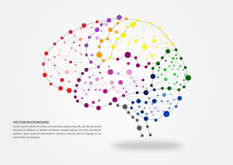 Gehirn, das Konzept aufzeichnet lizenzfreie abbildung
