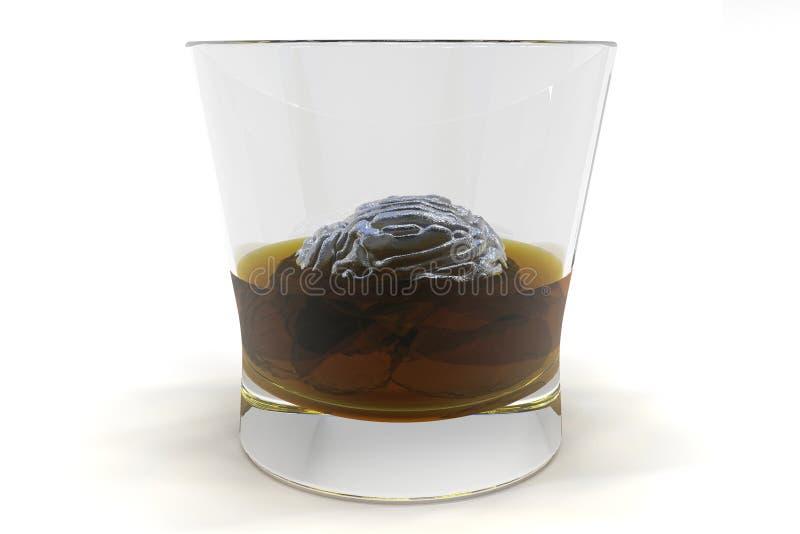 Gehirn in einem Glas vektor abbildung