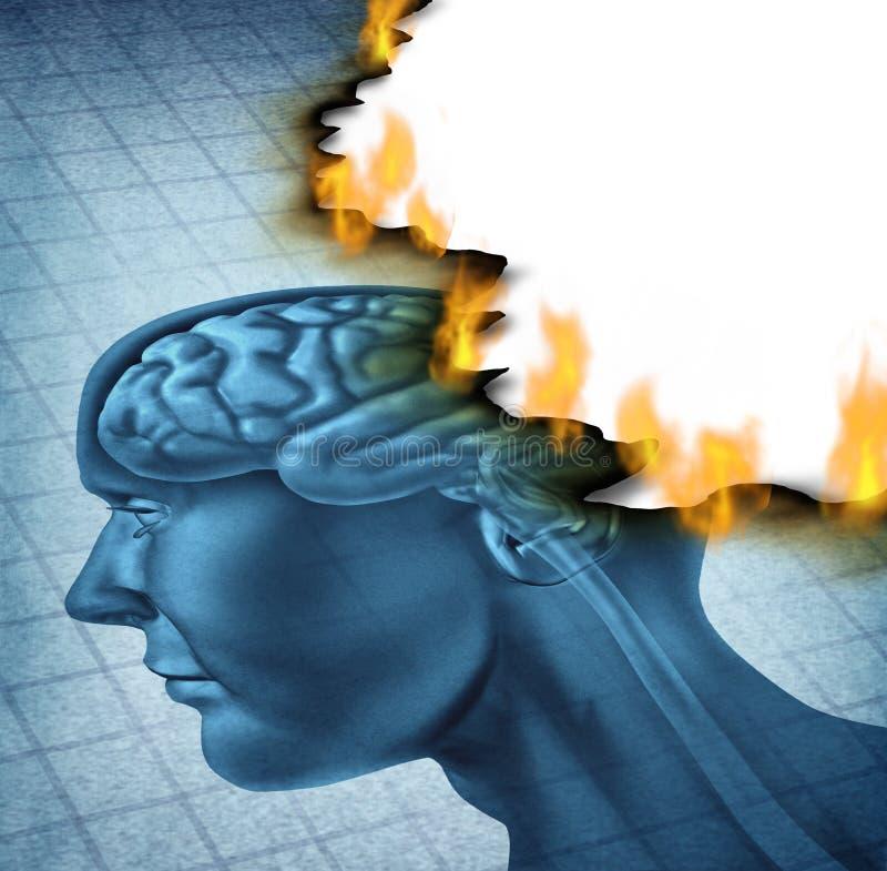 Gehirn-Krankheit lizenzfreie abbildung