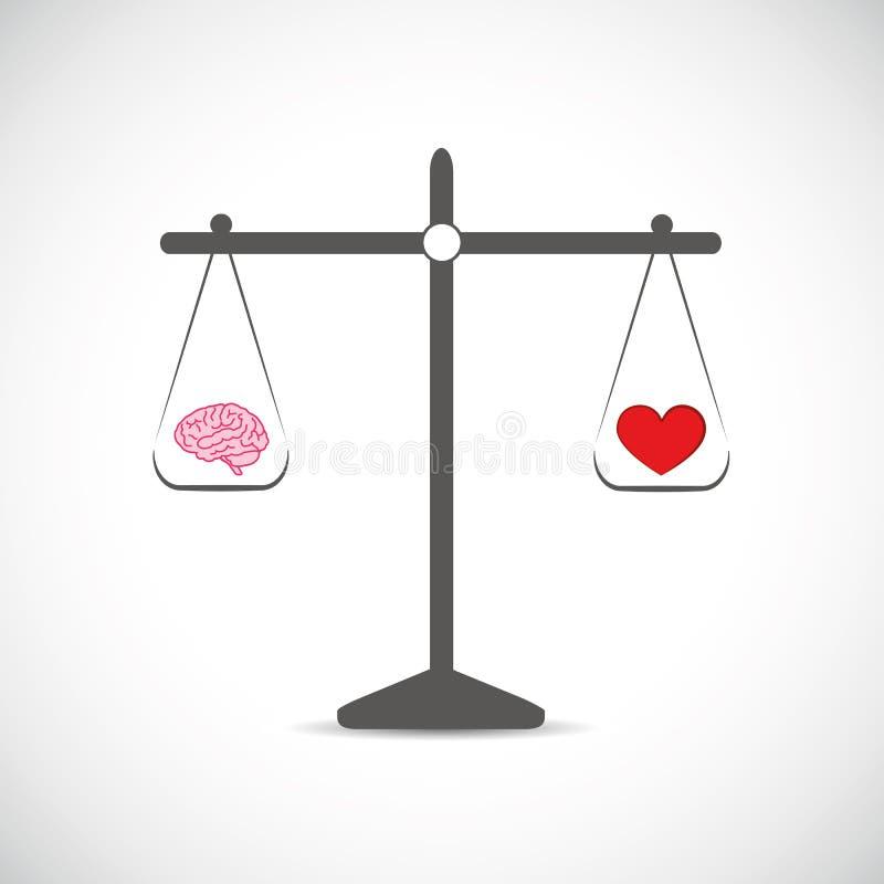 Gehirn und Herd in der Balance lizenzfreie abbildung