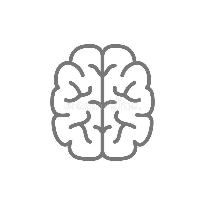 Gehirn, Verstand, Intelligenzlinie Ikone vektor abbildung