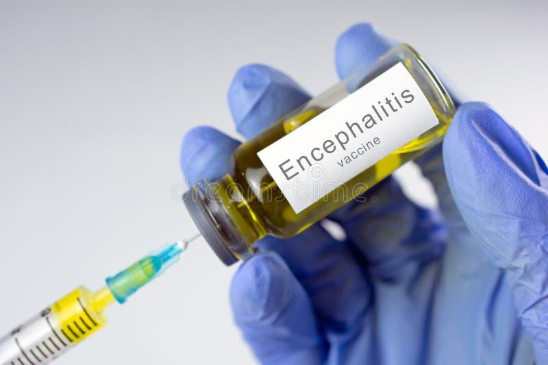 Gehirnentzündungsimpfstoff stockfoto