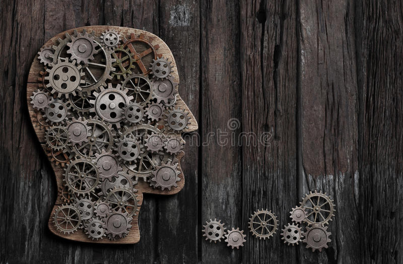Gehirnfunktion, Psychologie, Gedächtnis oder Geistestätigkeitskonzeption lizenzfreie stockfotografie