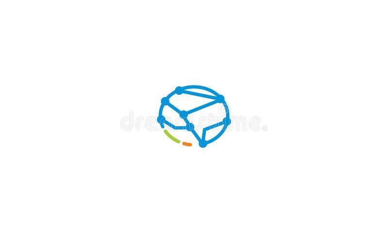 Gehirngesundheitslogovektor-Ikonentechnologie lizenzfreie abbildung