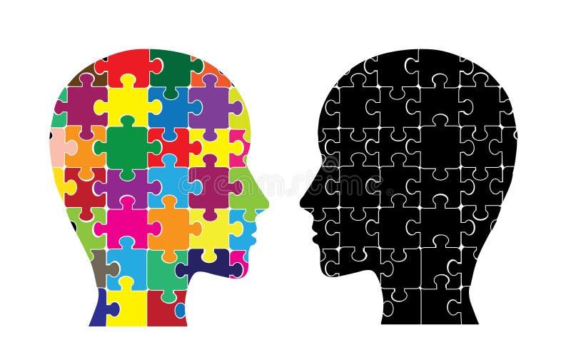 Gehirnhemisphären lizenzfreie abbildung