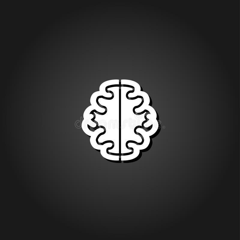 Gehirnikone flach stock abbildung