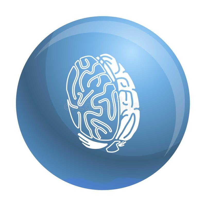 Gehirnkonzeptikone, einfache Art vektor abbildung