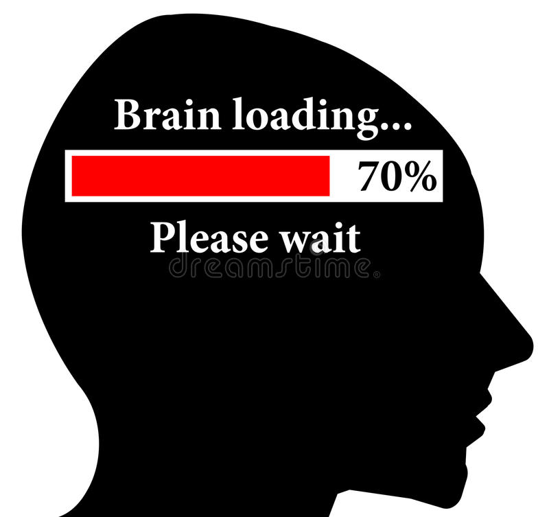 Gehirnladen vektor abbildung