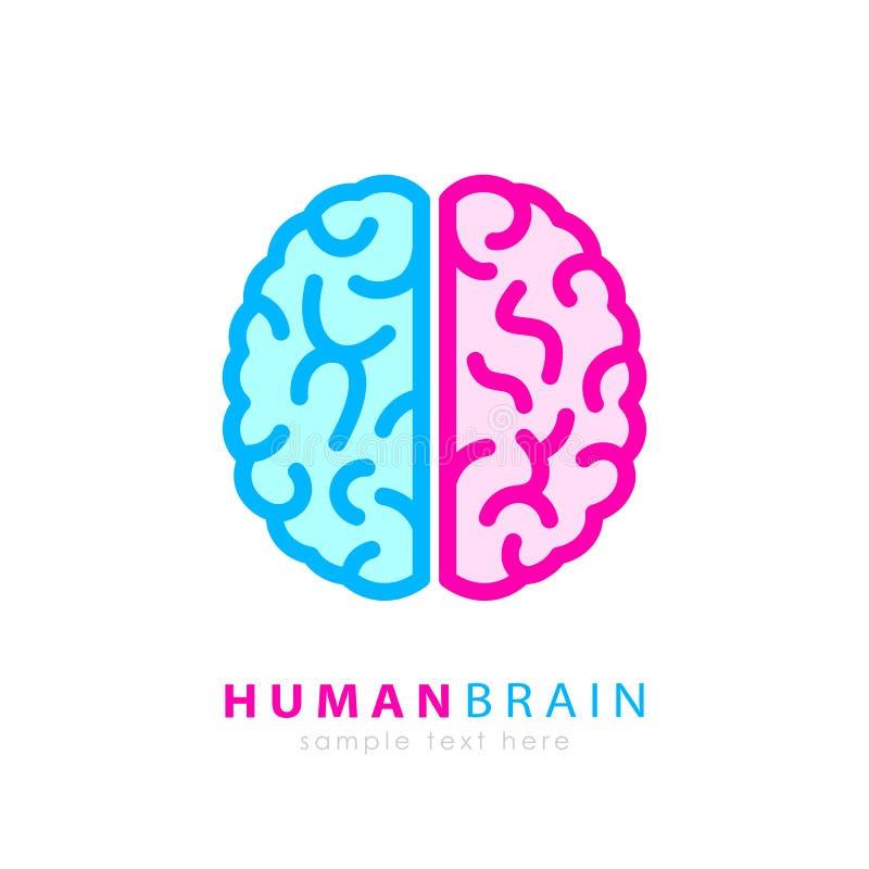 Gehirnlogo vektor abbildung