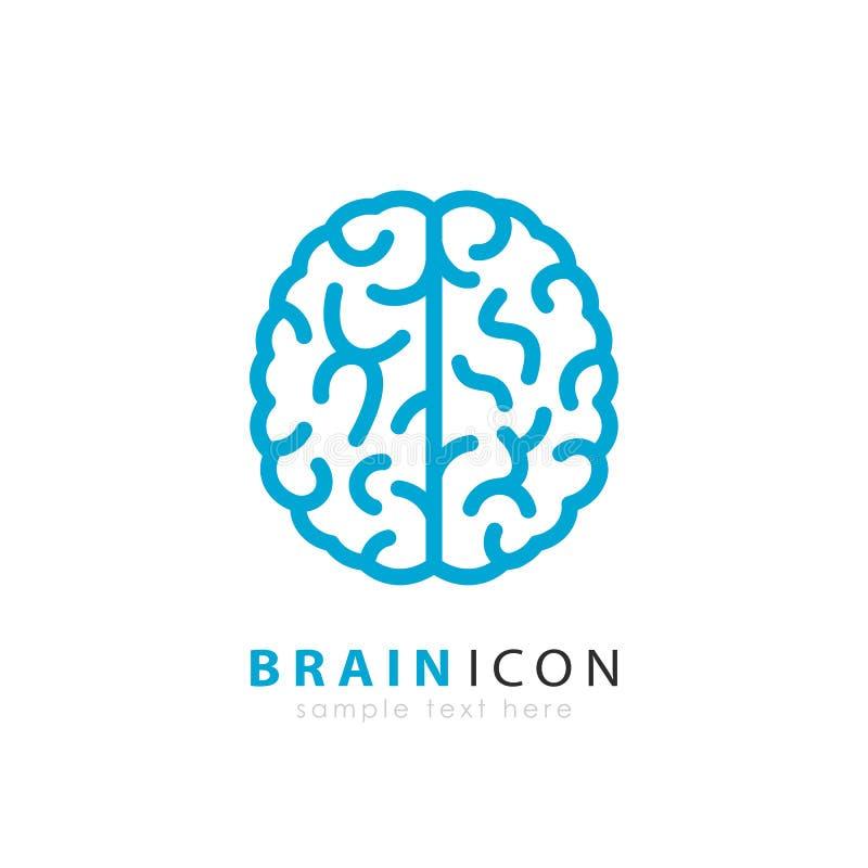 Gehirnvektorlogo stock abbildung