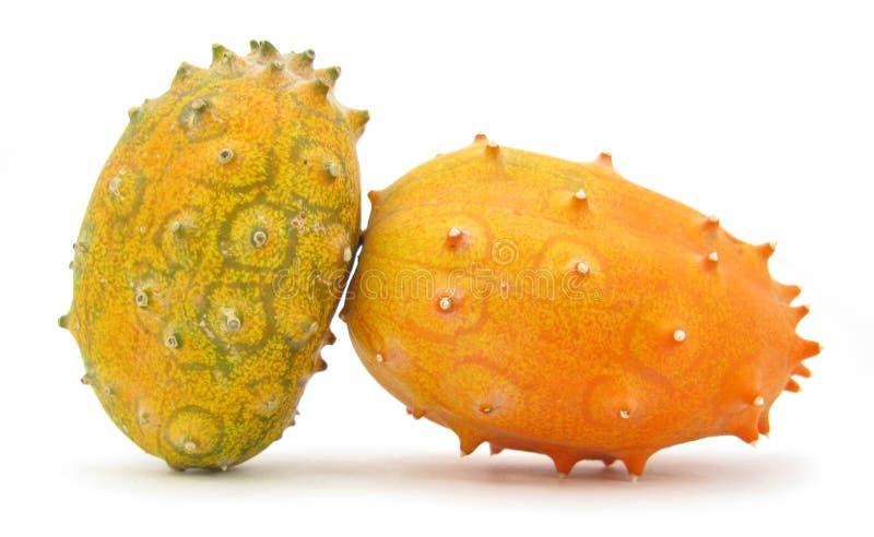 Gehoornd de meloenfruit van Kiwano royalty-vrije stock afbeeldingen