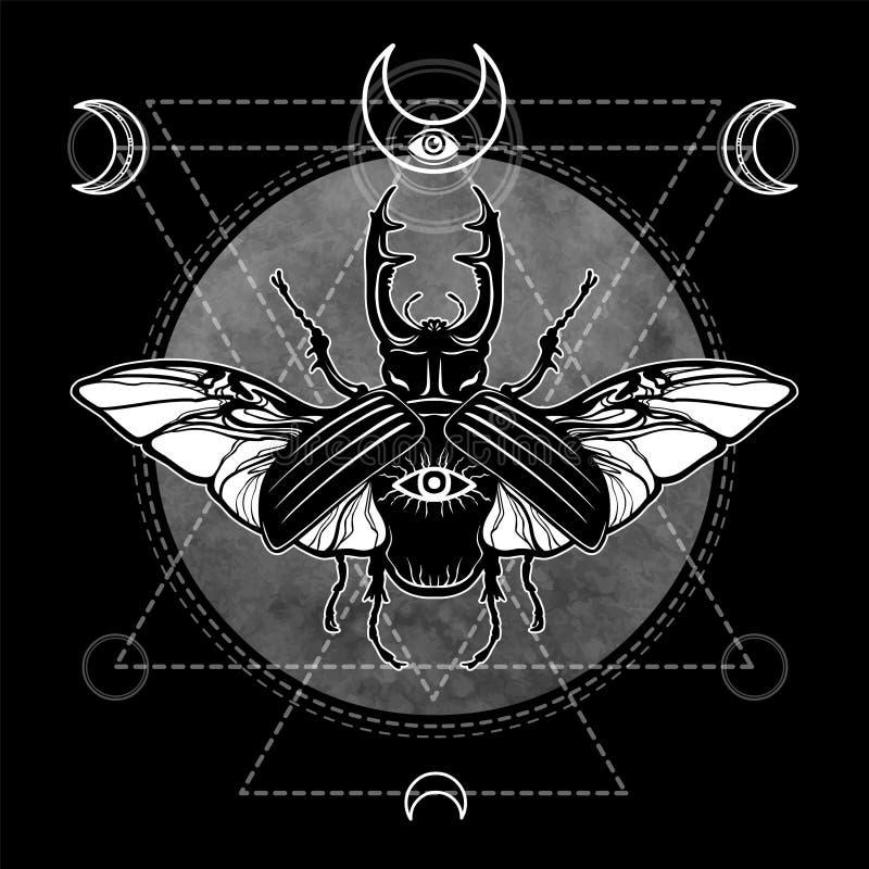 Gehoornd Insect vector illustratie
