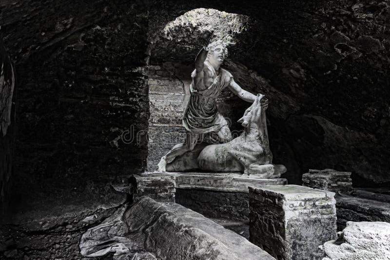 Gehrungsfuge ` s Statue, die den Stier tötet lizenzfreies stockfoto