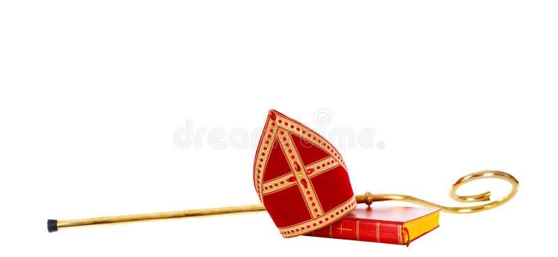 Gehrungsfugengehrungsfugenpersonal Sankt Nikolaus Holländisches Sinterklaas stockbilder