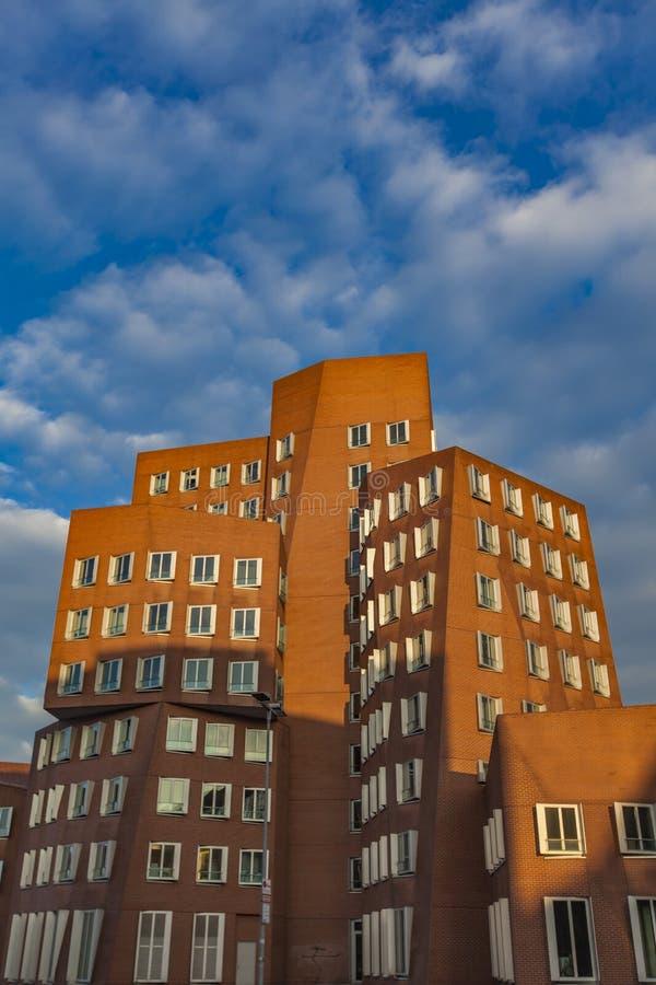 Gehry budynki Dusseldorf schronienie obrazy stock