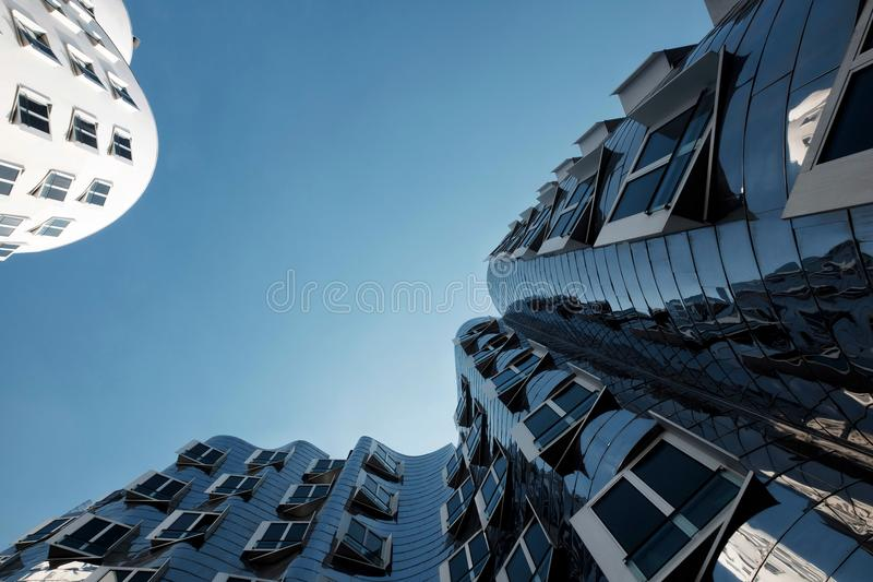 Gehry Building. In the Media Harbor in Düsseldorf, Germany stock image