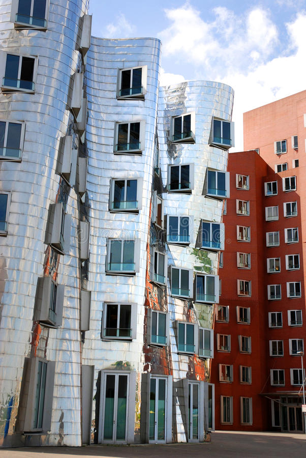 Gehry houses in Duesseldorf. Gehry building in Medienhafen , a new part of Duesseldorf, Germany. In Medienhafen there are a lot of modern buildings, film stock photos
