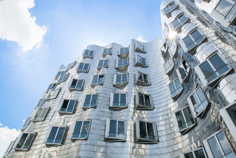 Gehry Houses in Medienhafen, Duesseldorf. Gehry buildings in the Mediahafen on Zollhof in Germany royalty free stock image