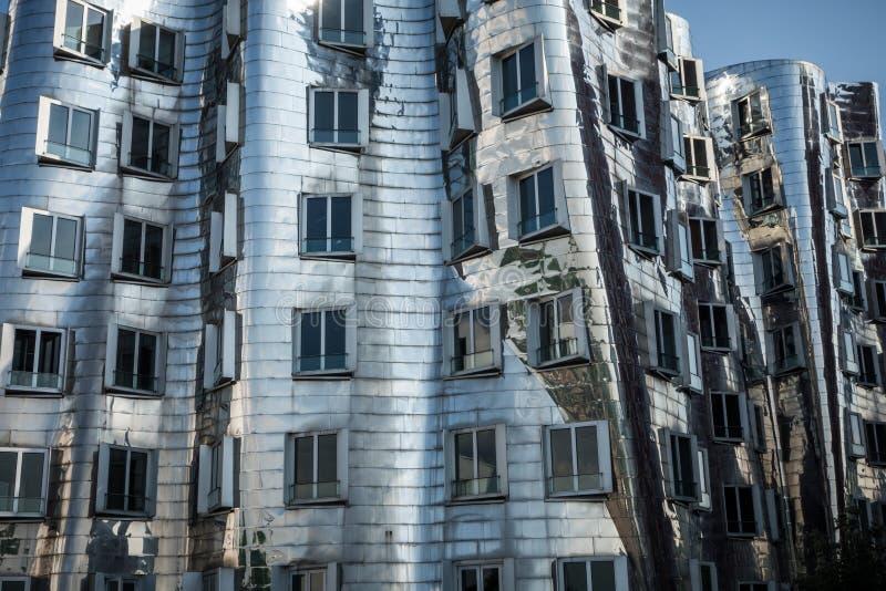Gehry postmodernistyczna architektura Duesseldorf obraz royalty free