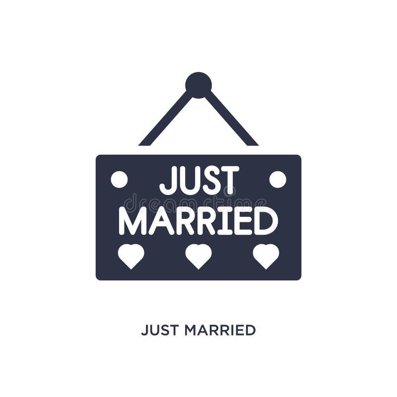 gehuwd enkel pictogram op witte achtergrond Eenvoudige elementenillustratie van verjaardagspartij en huwelijksconcept royalty-vrije illustratie