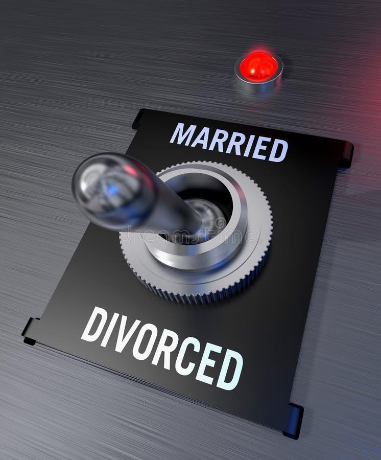 Gehuwd of gescheiden vector illustratie