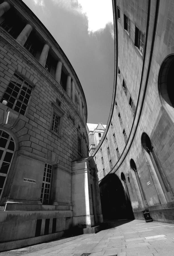 Gehweg, Quadrat Str.-Peters, Manchester lizenzfreies stockfoto