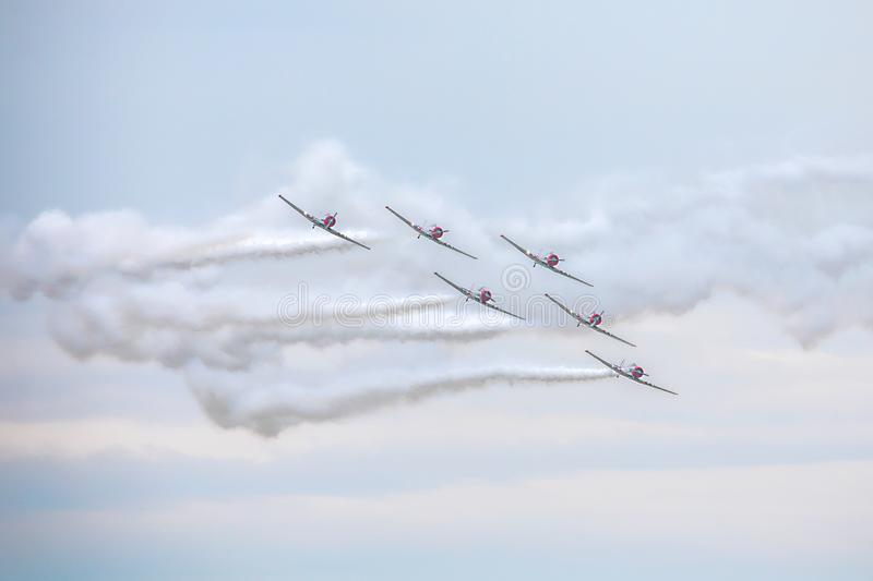 Geico Skytyper US Air Force Combat Planes Performing At An Air Show. In Tampa, Florida stock images