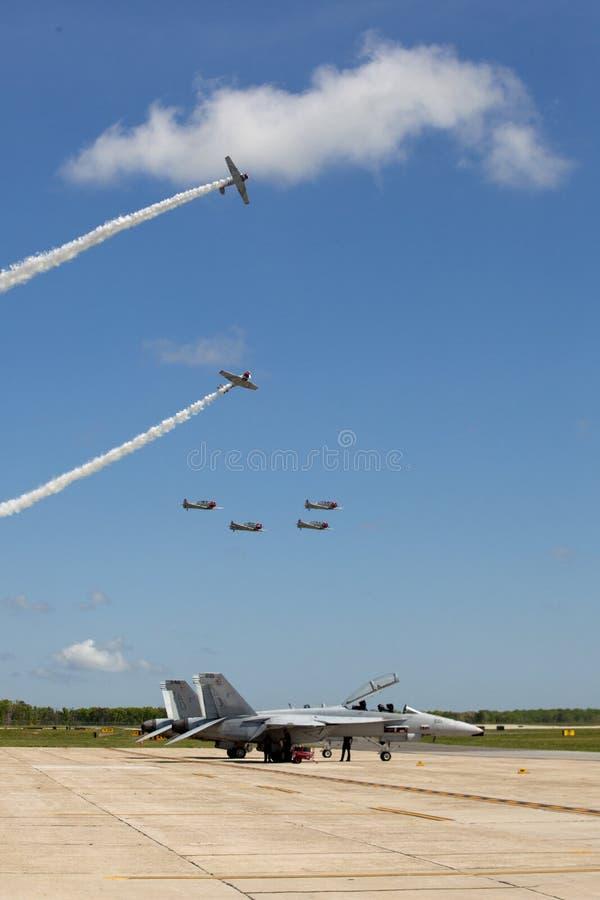 Geico Skytypers snj-2 Wereldoorlog ii-Era vliegtuigen royalty-vrije stock foto's