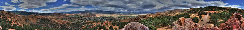 Geiger Lookout Wayside Park Nevada Panorama stock image