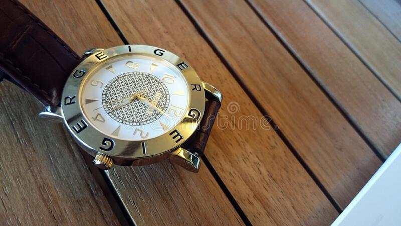 Geiger wrist watch royalty free stock images