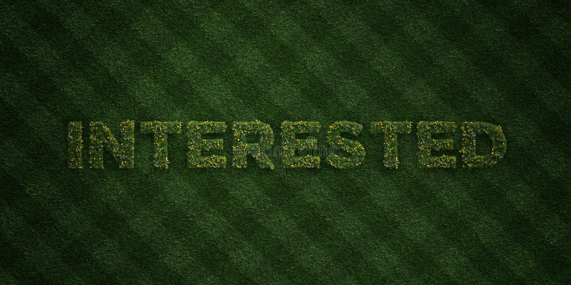 GEINTERESSEERDE - verse Grasbrieven met bloemen en paardebloemen - 3D teruggegeven royalty vrij voorraadbeeld vector illustratie