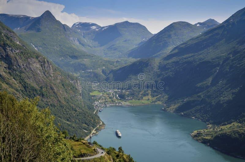 Geiranger et Geirangerfjord, Norvège images libres de droits