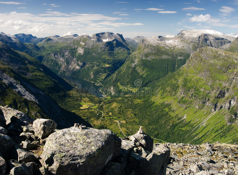 Download Geiranger fiord stock image. Image of scenery, scandinavia - 18887257