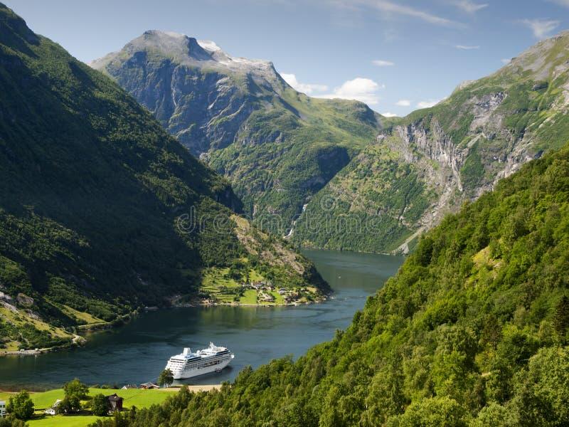 Geiranger fjord landscape stock images