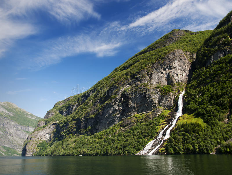 Download Geiranger fjord, Norway stock image. Image of waterfall - 15468215