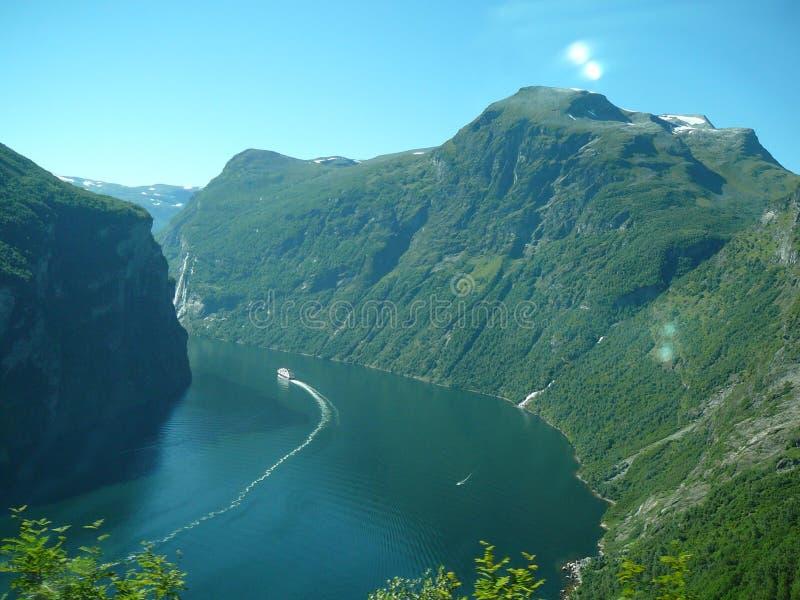 Geiranger fjord royalty free stock photo