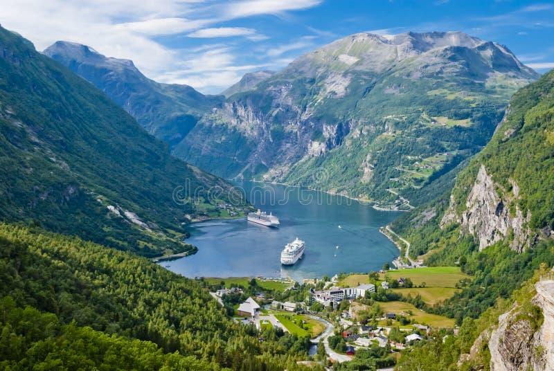 Geiranger Fjord, Norwegen lizenzfreie stockbilder