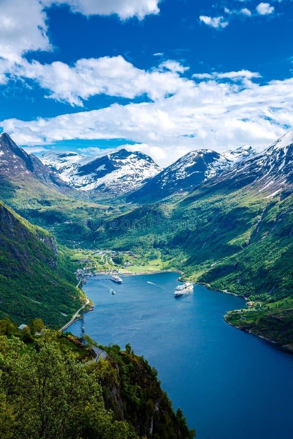 Geiranger Fjord, Norwegen lizenzfreies stockfoto