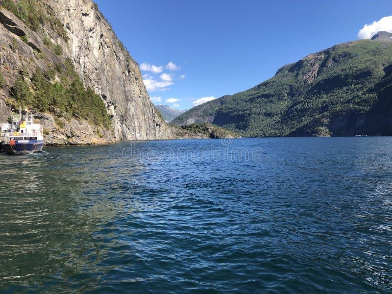 Geiranger-Fjorde stockbild