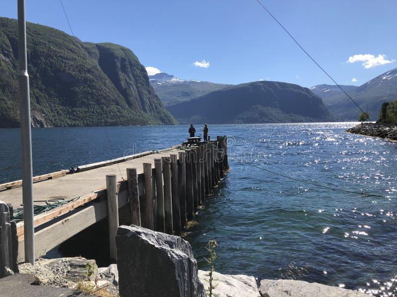 Geiranger-Fjorde lizenzfreie stockbilder