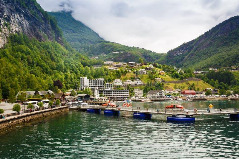Geiranger in Norvegia fotografia stock libera da diritti