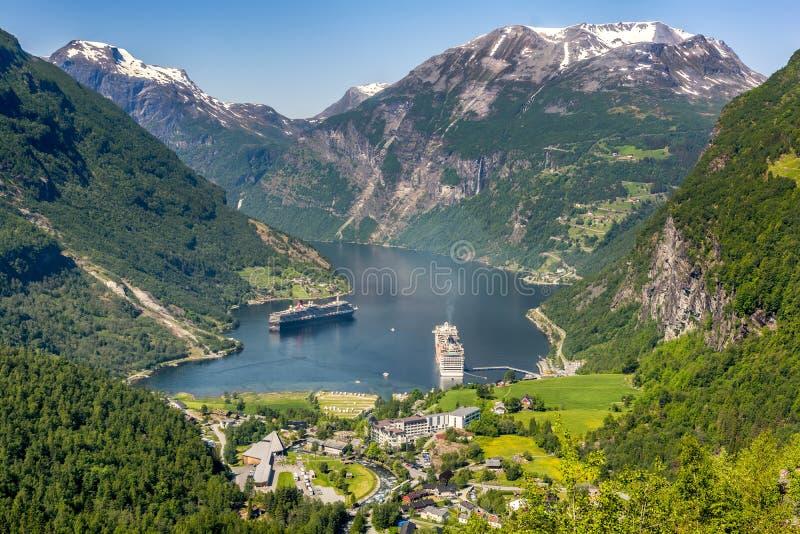 geiranger Norway fiordu zdjęcia stock