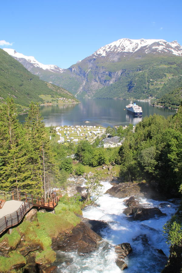 Geiranger in Norway royalty free stock photography
